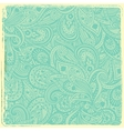 Vintage paisley background vector image vector image
