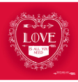 Vintage Valentines Day Card Design vector image vector image
