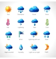 Weather Polygonal Icons vector image vector image