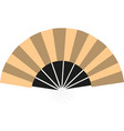 yellow chinese fan vector image vector image