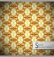 flower mesh rope gold brown vintage geometric vector image