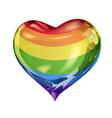 Big rainbow heart vector image
