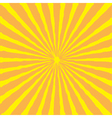 Sunburst with ray of light Yellow and orange back vector image
