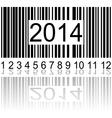 2014 on the barcode vector image vector image