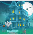 a haunted house for Halloween for a party with vector image vector image
