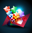 abstract shape background vector image vector image