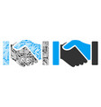 acquisition handshake composition of repair tools vector image