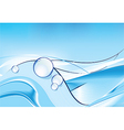 background with water drops vector image vector image