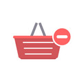 basket buy minus remove shop shopping icon vector image vector image