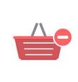 basket buy minus remove shop shopping icon vector image