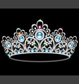 beautiful diadem feminine wedding with pearl vector image vector image