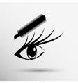 beautiful female blue eye mascara vector image vector image
