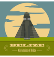 Belize landmarks Retro styled image vector image vector image