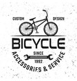 bicycle shop black emblem badge label vector image vector image