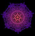 bright decorative mandala neon pink purple vector image vector image