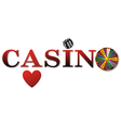 casino sign white fort vector image vector image