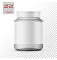 clear glass medicine bottle template vector image