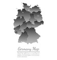concept map of germany on white background vector image vector image