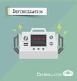 defibrillator machine flat design vector image vector image