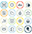 eco icons set with no smoking nature protect vector image vector image