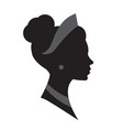 female head silhouette beauriful girl woman vector image vector image