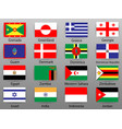 flags of all countries of the world part 4 vector image