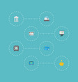 flat icons payment till strongbox and other vector image vector image