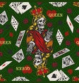 gambling vintage colorful seamless pattern vector image vector image