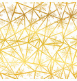 golden snowflakes triangles seamless repeat vector image vector image