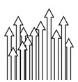 growth arrows on white background vector image