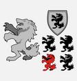 heraldic wolf vector image vector image