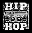 hip hop print vector image
