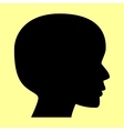 Human head sign vector image vector image