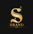 initial s luxury logo concept vector image vector image