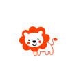 lion cartoon cute vector image