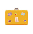 luggage time to travel with valise icon vector image vector image