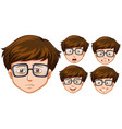 man with five different facial expressions vector image