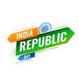 modern indian republic day creative background vector image vector image