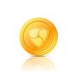 nem coin symbol icon sign emblem vector image vector image