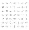 Outline web icons set - navigation vector image vector image