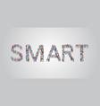 people crowd gathering in shape smart word vector image