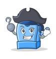 pirate pencil sharpener character cartoon vector image vector image