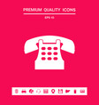 retro telephone icon graphic elements for your vector image vector image