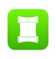 scroll icon digital green vector image