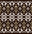 seamless damask pattern vector image vector image