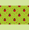 seamless pattern with abstract ladybugs vector image