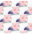seamless pattern with christmas pigs vector image