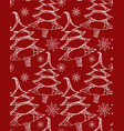 seamless texture with doodle christmas trees vector image