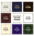 set frames ethnical art deco style vector image vector image