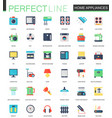 set of flat home appliances icons vector image vector image